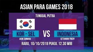 Live Streaming 16 Besar Badminton Tunggal Putra, Indonesia Vs Korea Selatan di Asian Para Games 2018
