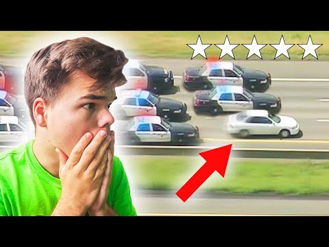 REACTING TO REAL LIFE GTA COP CHASES!