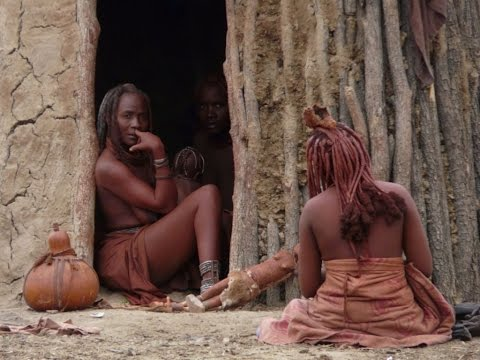 Tribe life Namibian tribe at Africa Himba culture#2