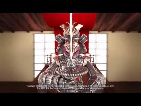 Samurai Fountain Pen, Silver, Fine