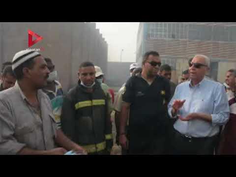الحماية المدنية تسيطر على حريق مصنع خشب الحبيبي بكوم أمبو