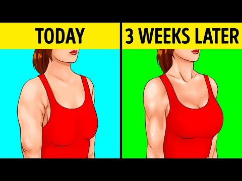 10 Easy Exercises For Beautiful Arms and Tight Breasts