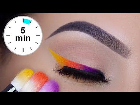 SUPER EASY 5 MINUTE Colorful Eye Liner Tutorial   PRIDE Makeup