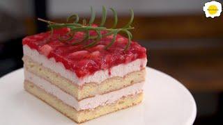 Strawberry Tiramisu Mousse Cake 草莓提拉米苏慕斯蛋糕 Tiramisu aux fraises Gâteau mousse