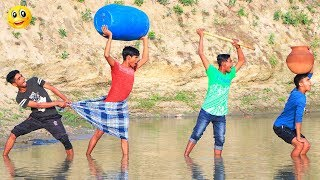 New Top Funny Comedy Video 2020__Very Funny Stupid Boys__Episode-105--Indian Fun || ME Tv