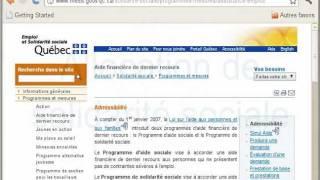 Aide financière de dernier recours - emploi et solidarité sociale Québec