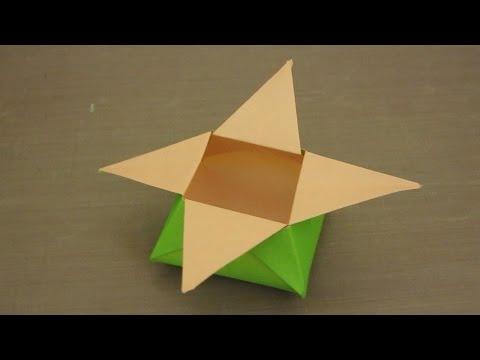 DIY Origami 6 Point Star Box Easy Tutorial | The Idea King ... | 360x480