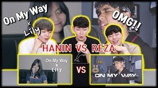 [KOREA REAKSI] On My Way X Lily (Hanin Dhiya, Reza Darmawangsa) | Cover | Reaction | Indonesia