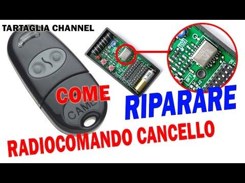 TUTORIAL come riparare radiocomando o telecomando per cancelli - semplicissimo