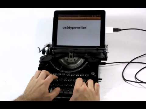 USB Typewriter – The iPad's Best Accessory!