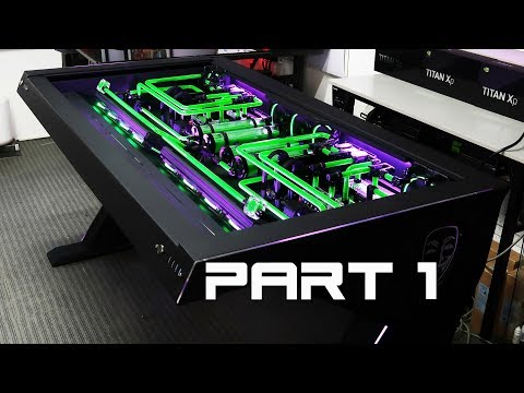 """Custom Desk Pc Build #38 """"Erebus"""" Part 1 Asus X299 and X399 in one Extreme Desk Build"""