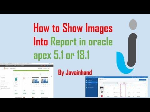 Insert Image in oracle APEX reports - смотреть онлайн на Hah
