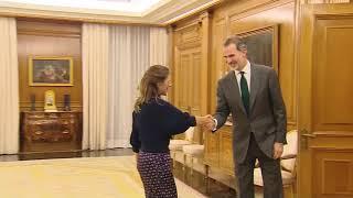 Su Majestad el Rey recibe a Doña Yolanda Díaz Pérez, de En Común-Unidas Podemos