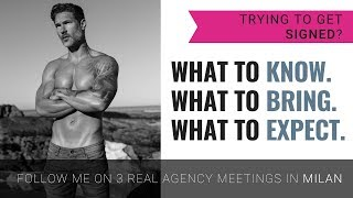 TRYING TO GET SIGNED TO A MODELING AGENCY? What To Know - Follow Me To 3 Agency Meetings