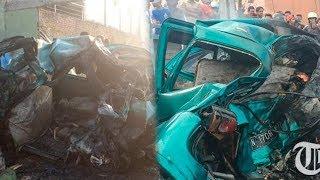 Mobil Terjepit 2 Truk hingga Terbakar di Pasuruan, 3 Penumpang Tewas