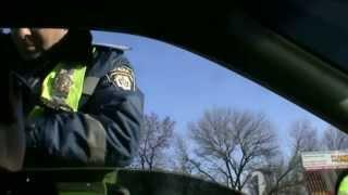 Блокпост в Луганске ( ждем агрессии, знаки ставим, как хотим)