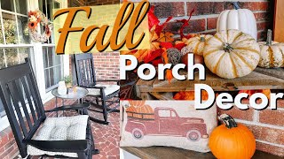 FALL PORCH DECOR | DECORATE WITH ME  | OUTDOOR FALL DECOR