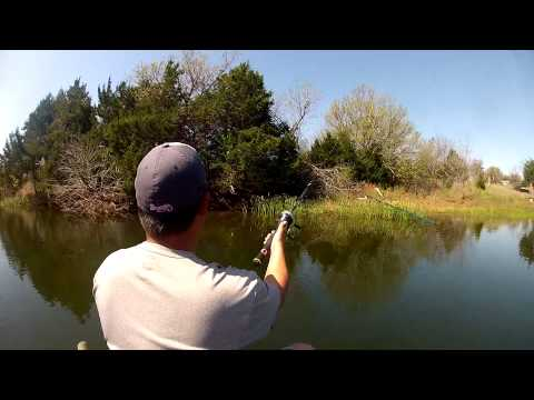 GoPro Bass Fishing (April 2013) Oklahoma Farm Pond – Deeyung Entertainment