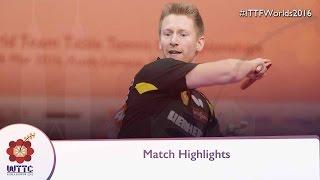 2016 World Championships Highlights: Ruwen Filus vs Benjamin Brossier