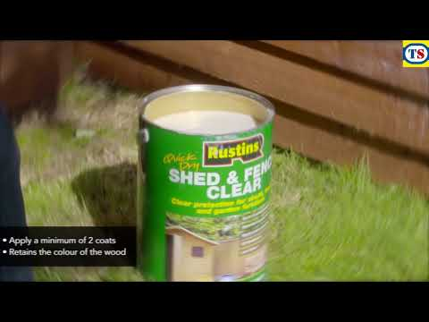 Rustins Quick Dry Shed & Fence Clear Protector