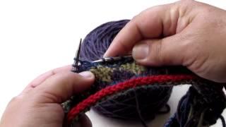Cloisonée Hat #1  Knit 4 Rows Below