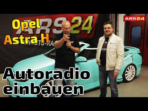 Krasser Opel Astra H 2-DIN Luxus-Autoradio eingebaut   Kenwood DNX9180DABS