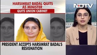 President Accepts Harsimrat Badal Resignation Amid Row Over Farm Bills - Download this Video in MP3, M4A, WEBM, MP4, 3GP