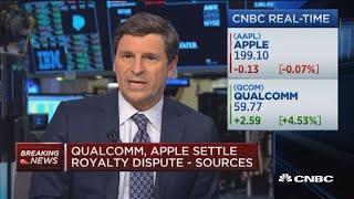 Apple, Qualcomm settle royalty dispute