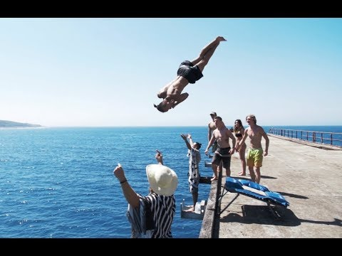 3 QUAD FLIPS // Catherine Hill Bay Cliff Jumping