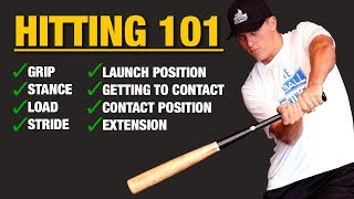 HITTING 101 - Step-By-Step Tutorial On How To Hit A Baseball Better!!