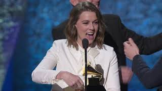 Brandi Carlile Wins American Roots Album | 2019 GRAMMYs Acceptance Speech