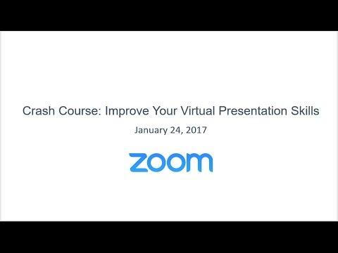 Crash Course: Improve Your Virtual Presentation Skills - YouTube