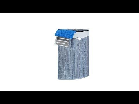 Eck Wäschekorb Bambus
