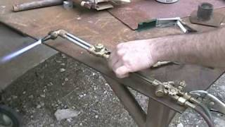 how to weld and cut with oxy acetylene hobby art welding ep.1  torch