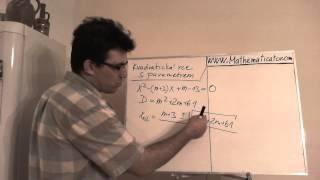 Rovnice s parametrem - Kvadratická - Řešení v závislosti na parametru 1