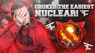 CHOKED THE EASIEST NUCLEAR!