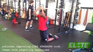 Athletes Improving CORE STRENGTH With These Core Stability Exercises
