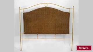 Antique Contemporary natural wicker queen size headboard