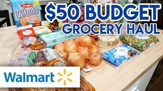 💵 $50 PER WEEK BUDGET GROCERY CHALLENGE! 🛒 WALMART GROCERY HAUL 🍽 PANTRY AND FREEZER CHALLENGE