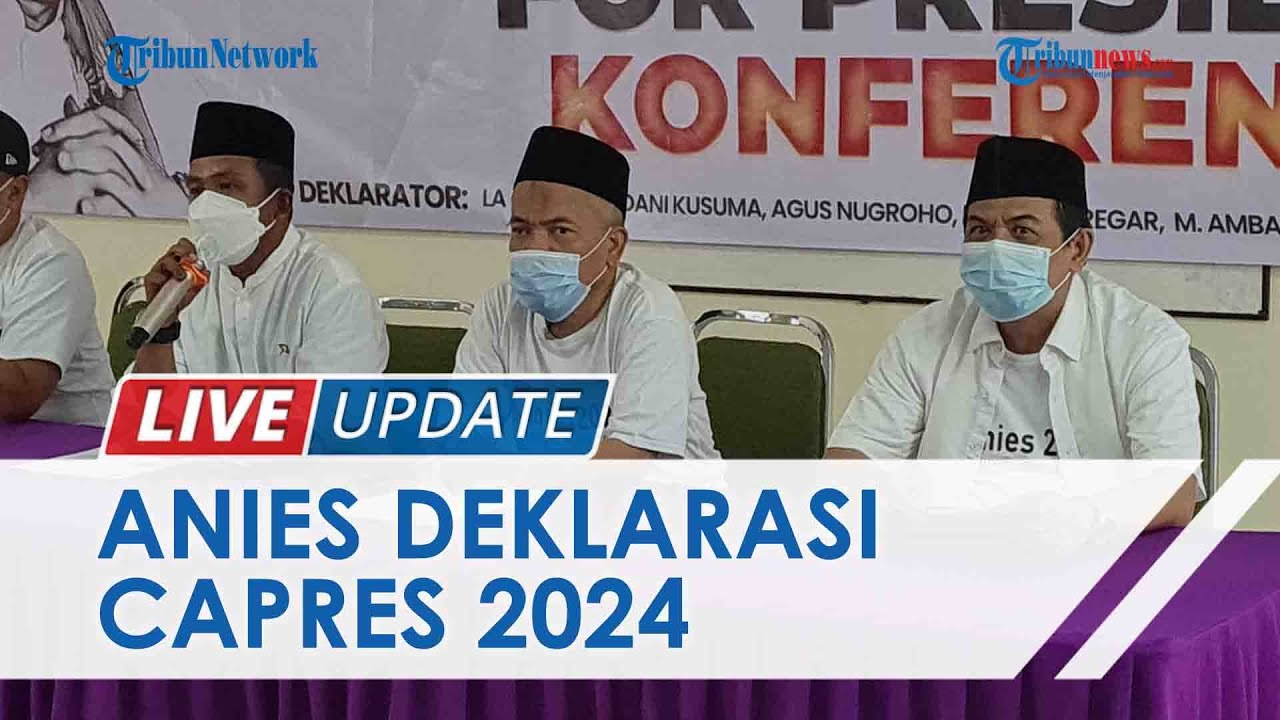 TRIBUNNEWS LIVE UPDATE: Aliansi Nasional Sejahtera Ungkap Alasan Anies Pantas Jadi Presiden 2024