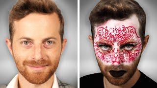 Try Guys Try Avant Garde Makeup Transformation (ft. Kalen Allen)