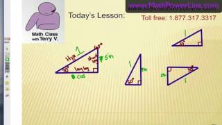Unit Circle Trig Functions: Finding Special Triangles 1