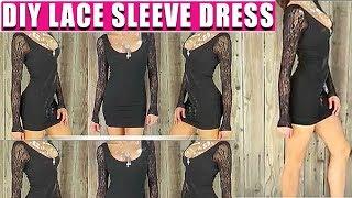 DIY LACE SLEEVE DRESS - FASHION HACK