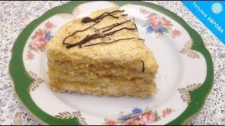 Вкуснейший торт без выпечки из песочной крошки домашнего приготовления