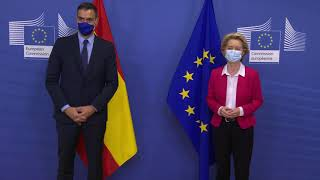 President Ursula von der Leyen welcomed the Prime Minister of Spain, Pedro Sanchez