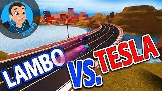 It's Lambo Vs. Tesla in Roblox Jailbreak!! Loomy Plays and I are Mythbusting in Roblox Jail Break