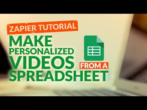 How To Make Personalized Videos From A Spreadsheet Data With Sezion