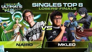 Nairo Vs MkLeo   Singles: Losers Finals   Ultimate Summit 2 | Palutena Vs Joker, Marth
