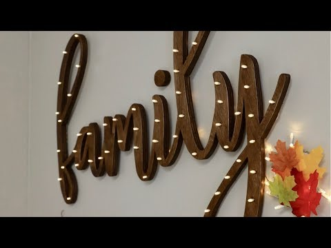 How to Make a DIY Word Light Sign Out of Wood – FULL TUTORIAL – Thrift Diving