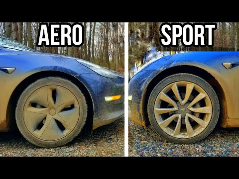 Tesla Model 3 Aero vs Sport Wheels - Comparing Efficiency | Noise | Ride Comfort